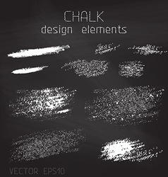 Chalk grunge elements vector