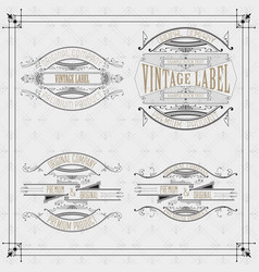 4 vintage typographic label premium vector