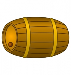 Barrel wood vector