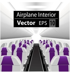 Interior of the passenger airplane vector