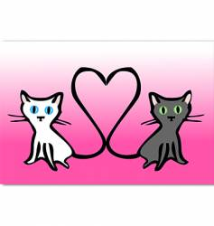 Kitty love vector