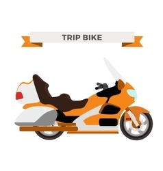Motorcycle  moto bike isolated vector