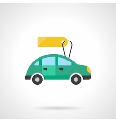 Automobile for sale flat color design icon vector