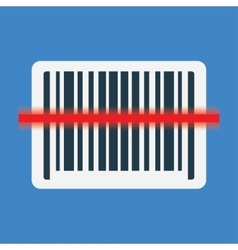 Barcode scanning icon vector