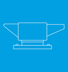 Anvil icon outline style vector