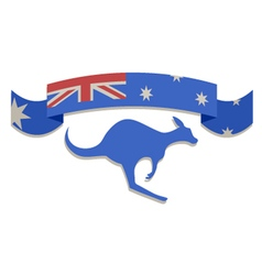 Australian ribbon symbol vector image