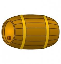 barrel wood vector image