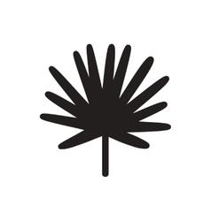 Black icon on white background tree leaf vector