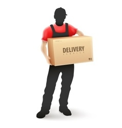Delivery service man postman vector image vector image