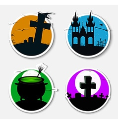 Design stickers icons on Halloween vector image vector image