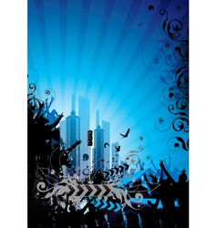 downtown skyline vector image