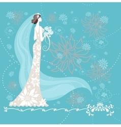 Elegant bride vector image