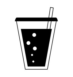 Glass cup icon image vector
