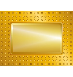 Gold sign and background vector