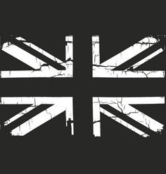 Grunge great britain flag vector