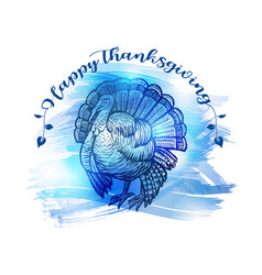 Hand drawn sketch turkey natural turkey vector