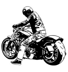Harley davidson and rider vector