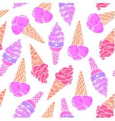 Icecream seamless pattern 7 vector