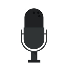 Isolated microphone and music design vector