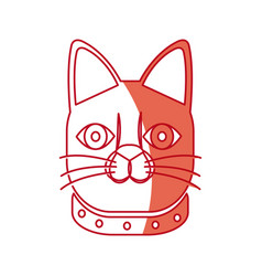 Japanese face cat neko doll lucky vector