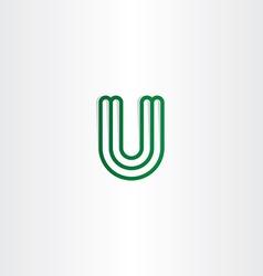 logo u letter logotype u green icon vector image vector image