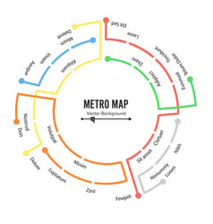 Metro map plan map station metro and vector