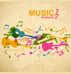 Music design concept vector