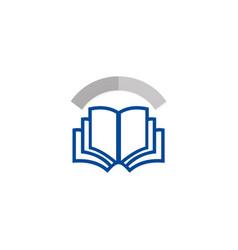 open book education knowledge logo vector image vector image