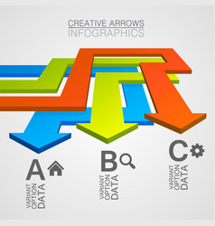 Options direction of the arrows path vector