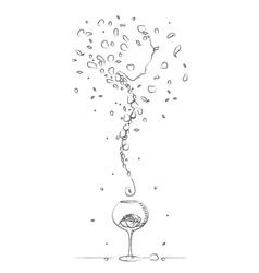 Perfumery phantom drawing vector