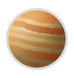 Planet jupiter icon vector