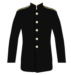 Police uniform jacket vector image