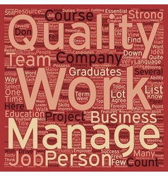Seven qualities to get a job you want text vector