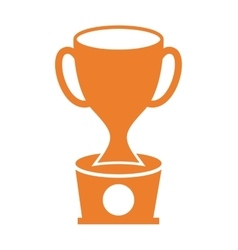 Trophy award gold icon vector