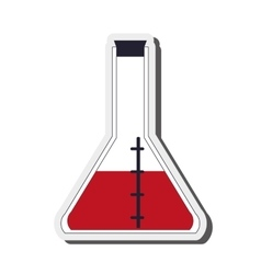 Conical flask icon vector