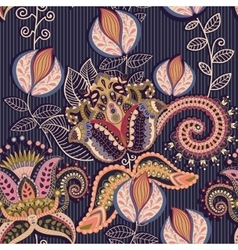 Paisley ornament colorful indian backdrop vector