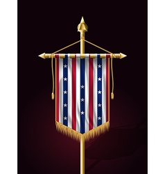 Stars and stripes vertical banner vector