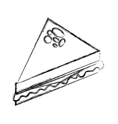 Delicious sandwish isolated icon vector