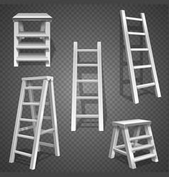 Steel staircases metal ladder aluminum vector