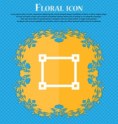 Crops and registration marks floral flat design vector