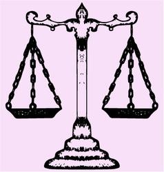 Scales justice vector