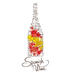Abstract wine botle from spain vector