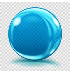 Big blue glass sphere vector image