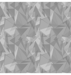 Abstract gray triangular seamless pattern vector image vector image