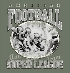 american football team vector image vector image