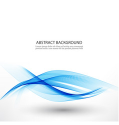 blue waveabstract white background with blue wavy vector image vector image