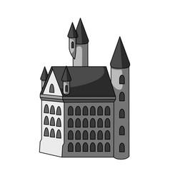 building single icon in monochrome stylebuilding vector image vector image