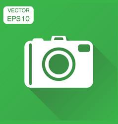 Camera photographer icon business concept vector