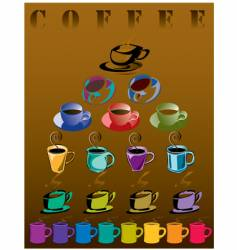 coffee cups brown vector image vector image