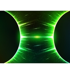 Dark green shining cosmic spheres gravity vector image vector image